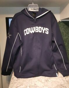 new arrivals 40584 5e08a Details about Perfect mint Dallas cowboys zip up hoodie Large reebok  vintage 90s
