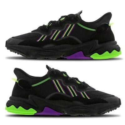 NEW Adidas Ozweego Mens Trainers Black Shock Purple Solar Green Shoes All Sizes | eBay