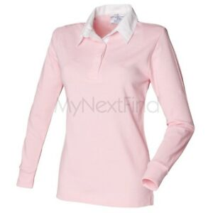 Front-Row-Womens-Long-Manche-Plain-rugby-shirt
