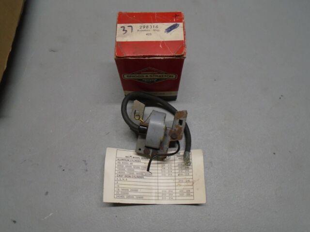 Vintage OEM Briggs & Stratton Armature Magneto, 100201-100202, 298316