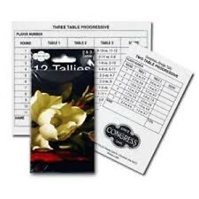 Congress Southern Charm Bridge Tallies For Keeping Score Playing Cards Bicycle