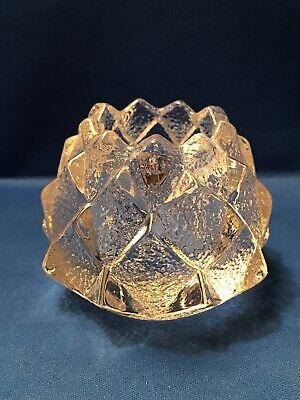 Orrefors Sweden Artichoke Glass Votive Candle Holder