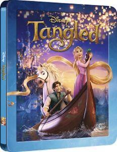 TANGLED-U-K-3D-BLURAY-EMBOSSED-STEELBOOK-New-SEALED-DISNEY-REGION-FREE