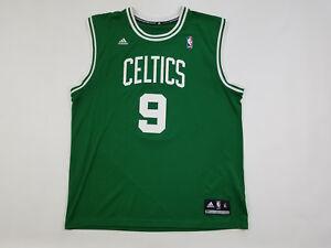 huge selection of 3f791 1d347 Details about Boston Celtics Jersey Men's XL Adidas Rajon Rondo #9 Green  Road Swingman Printed