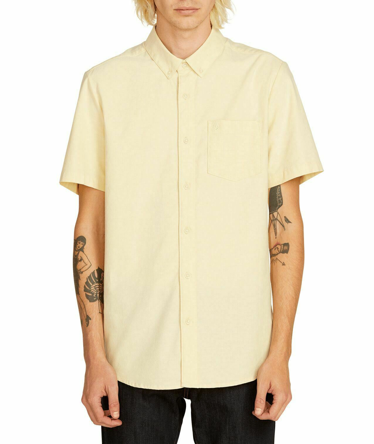 Volcom Men's Shirt  Everett Oxford yellow