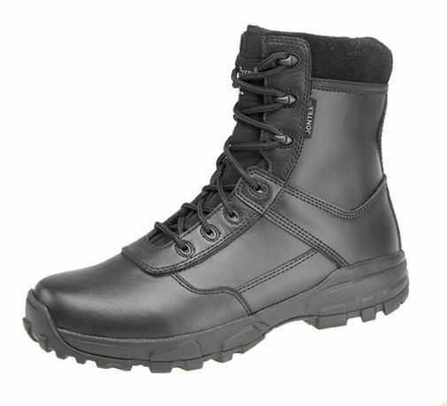 MENS GRAFTERS SIZE 3-12 WATERPROOF COMBAT ARMY MILITARY MOD BLACK LEATHER BOOTS