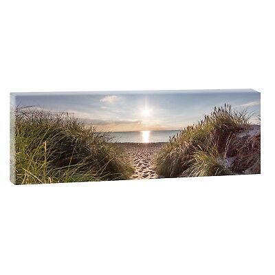 Dünen Nordsee Panorama Bild Poster Wandbild Modern Design XXL 120 cm*40 cm 635