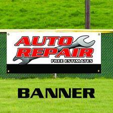 Auto Repair Free Estimates Banner Sign Car Shop Mechanic Oil Change Ac Service