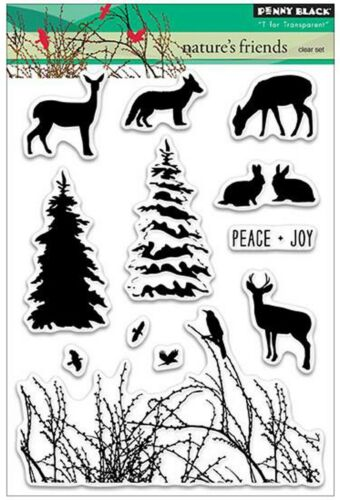 NATURES FRIEND Stamp Set Clear Unmounted Rubber Stamp Set PENNY BLACK 30261 New