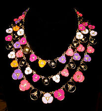 GORGEOUS KATE SPADE NEW YORK DISCO PANSY MULTI STRAND NECKLACE FLOWER