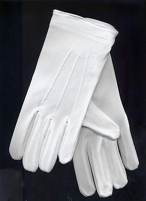 TTN 848 Santa Gloves Parade Wrist Snaps Top Stitching Nylon Men Large XL White