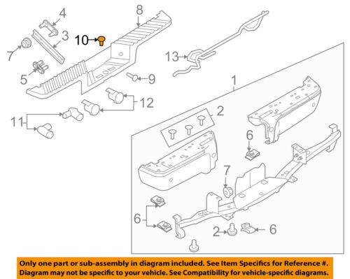 FORD OEM 08-09 F-250 Super Duty Rear Bumper-Hole Plug 7L3Z17D754AA