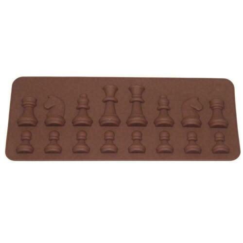 Silikon Schach Form Schokolade Modell Backform Eis Kuchen Küche Backformen G6O9