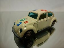 YATMING 1009 VW VOLKSWAGEN BEETLE - FLOWERS - OFF-WHITE  1:60? - GOOD CONDITION