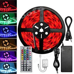 5m-5050-RGB-LED-Stripe-Band-Leiste-Streifen-Lichterkette-Licht-Schlauch-Netzteil