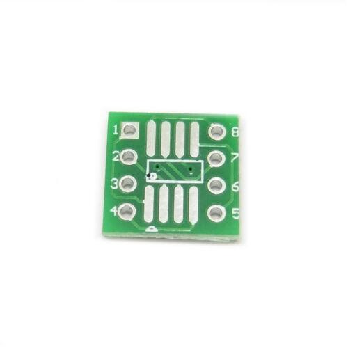 PCB SOP8 SO8 SOIC 8 TSSOP 8 MSOP 8 a DIP8 Converter placa adaptador SMD IC