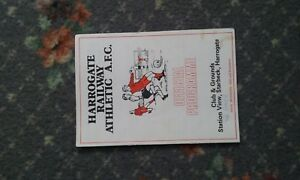 football-programme-Harrogate-Railway-v-Goole-Town-1985
