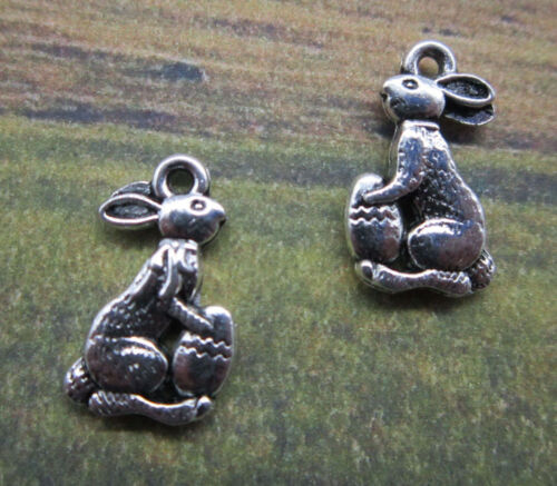 Free ship retro style Stealing cabbage rabbit alloy charms pendants