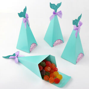 Details About Mermaid Candy Boxes Little Mermaid Party Supplies Theme Mermaid Diy Gift Box