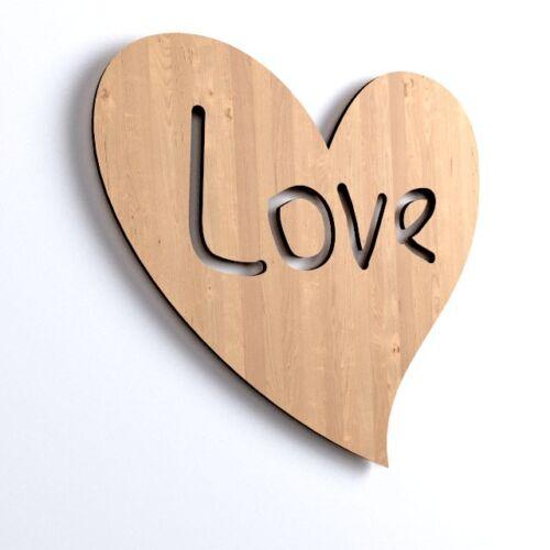 10 x Herz Love blank Form Holz Basteln Malen Dekoration Wohnen zum Aufhängen V70