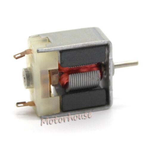 DC 3V 6200RPM High Speed 18mm*19mm Mini Thin 020 Square DC Motor 1.5mm Shaft DIY