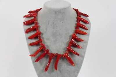 Rot Tief Koralle Italienisches Mediterrane Ravishing Pariser Design Halskette Exquisite Handwerkskunst;