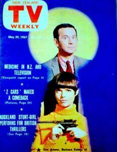 TV Guide 1967 Get Smart Don Adams Barbara Feldon New Zealand TV Weekly EX/NM COA