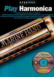 LEARN-HOW-TO-PLAY-THE-DIATONIC-BLUES-HARMONICA-Music-Book-amp-CD-Mouth-Organ
