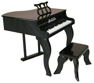 NEW-Schoenhut-Black-Baby-Grand-Piano-Childrens-Toy-30-Keys-amp-Learning-System