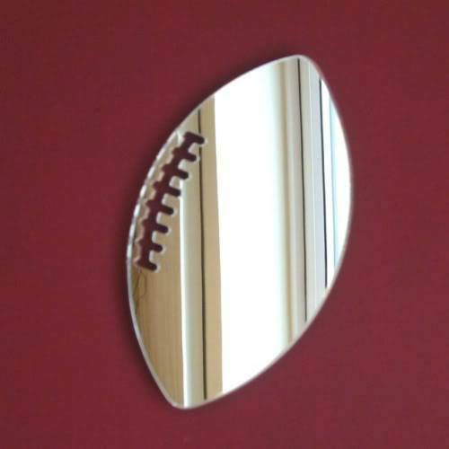 Rugby Ball Acrylic Mirror Several Sizes Available