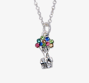 DISNEY-PIXAR-UP-PENDANT-NECKLACE-COLORED-CRYSTAL-BALLOONS-CHARM-NECKLACE