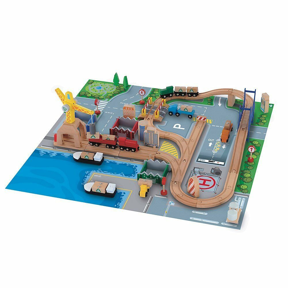 Early Learning Centre(ELC) Wooden Rail Cargo PortNEW