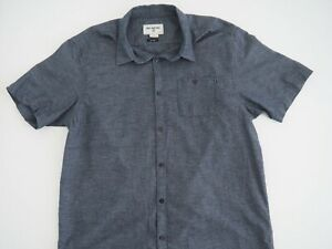 BILLABONG-Mens-Core-Fit-Short-Sleeve-Button-Shirt-Size-XL-Blue-100-Cotton-NWOT