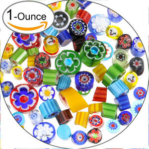 90-COE-Fusible-Glass-Beads-Mosaic-Decor-DIY-Rainbow-Mix-Handmade-Millefiori-28g