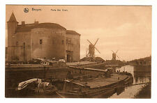 Porte Sainte Croix - Bruges Photo Postcard c1920s / Windmils