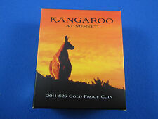 2011 Kangaroo at SUNSET gold coin. 99.99% pure and in immaculate condition