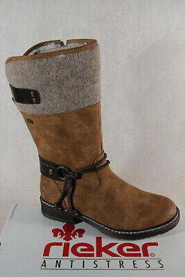 Rieker Ladies Tex Ankle Boots Winter Boots Braun 94774 New   eBay
