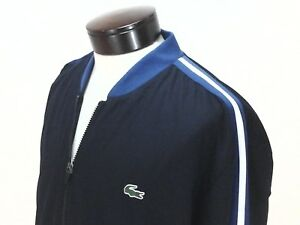 9b4ad6ae LACOSTE SPORT Bomber Jacket Blue/White Casual Windbreaker TENNIS ...