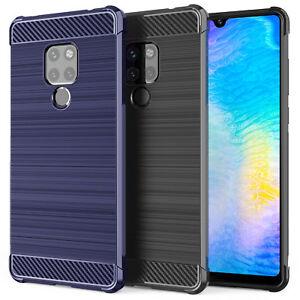 Huawei-Mate-20-Schutz-Hulle-Dunn-Beste-Carbon-Fibre-Silikon-Handyhulle-Case