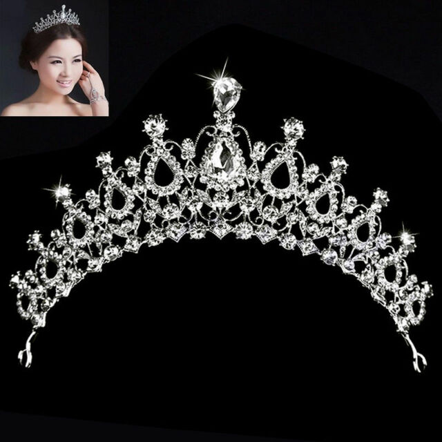 Bridal Wedding Prom Crystal Rhinestone Hair Headband Crown Comb Tiara Fashion