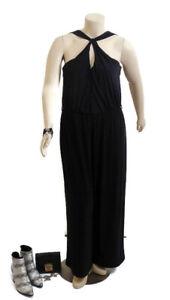 CITY CHIC Black Jumpsuit With Crisscross Neckline   Plus Size: M (18)