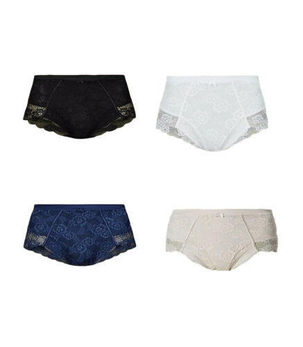 Ex M/&S Ladies Firm Control Floral Lace Full Brief Knickers Control Pants S1 NEW