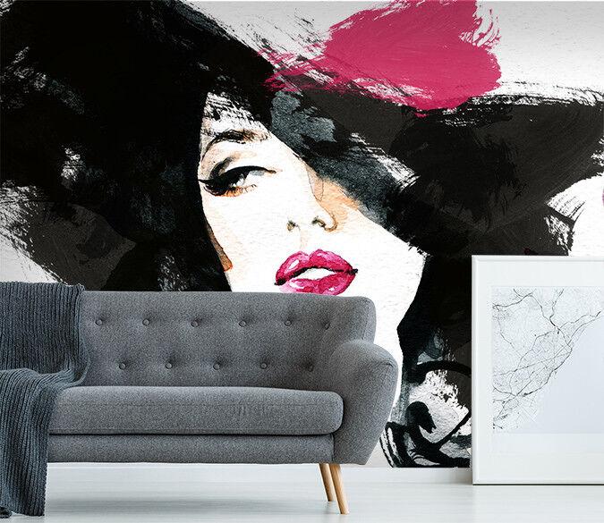 3D Beauty Face Girl 804 Wallpaper Mural Paper Wall Print Indoor Murals CA Summer