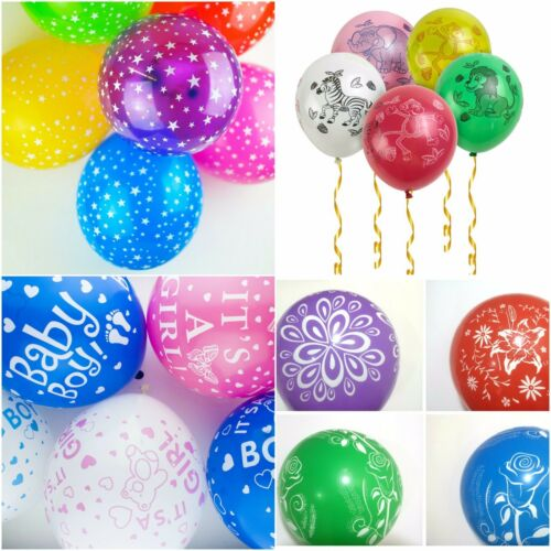 "Balloons 10 X 12/"" Latex Top Quality MIX STAR PRINTED Party Multi Colour Balloons"