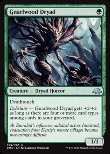 English Eldritch Moon MTG Magic 4x Gnarlwood Dryad NM-Mint