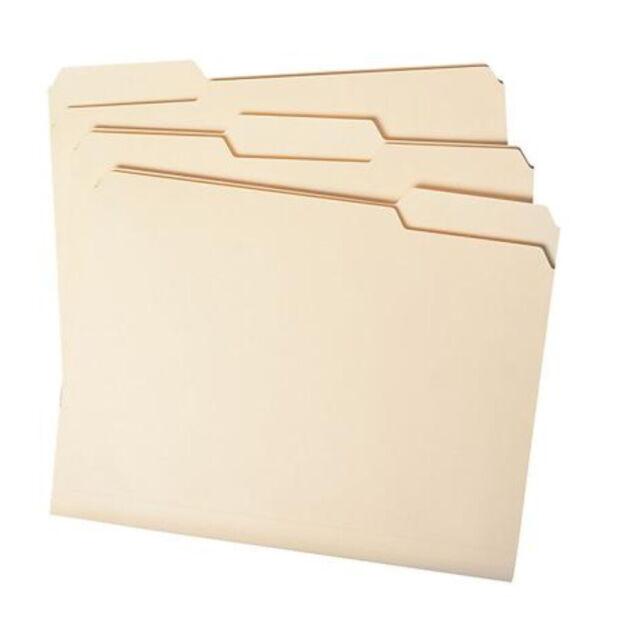 1//3 Cut Assorted Tabs Letter Size 150 ct. Member/'s Mark Smead File Folders