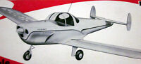 Vintage Ercoupe 45 Berkeley Rc / Uc / Ff Model Airplane Plan + Scale Article