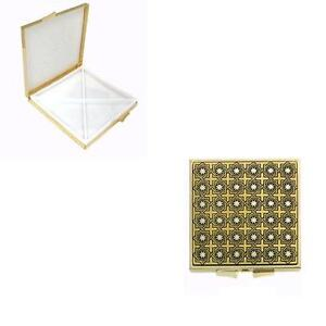 Damascene-Gold-Star-of-Redemption-Square-Pill-Box-by-Midas-Toledo-Spain-8501