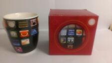 Mobile Phone App Print Mug Novelty Bone China Cup Mug Joke Gift Stocking Filler
