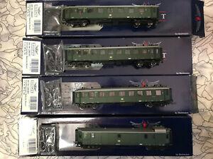 Liliput-L384601-L384901-Wagon-Train-Set-Baden-Designed-DB-Ho-New-Boxed